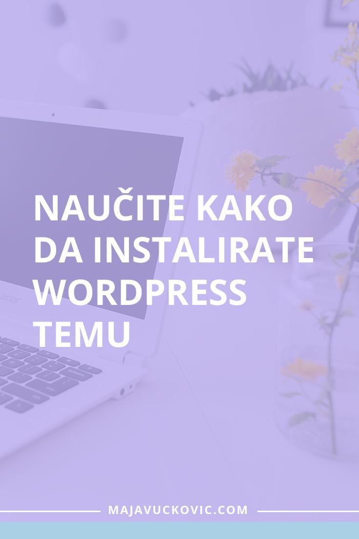 Naučite kako da instalirate WordPress temu