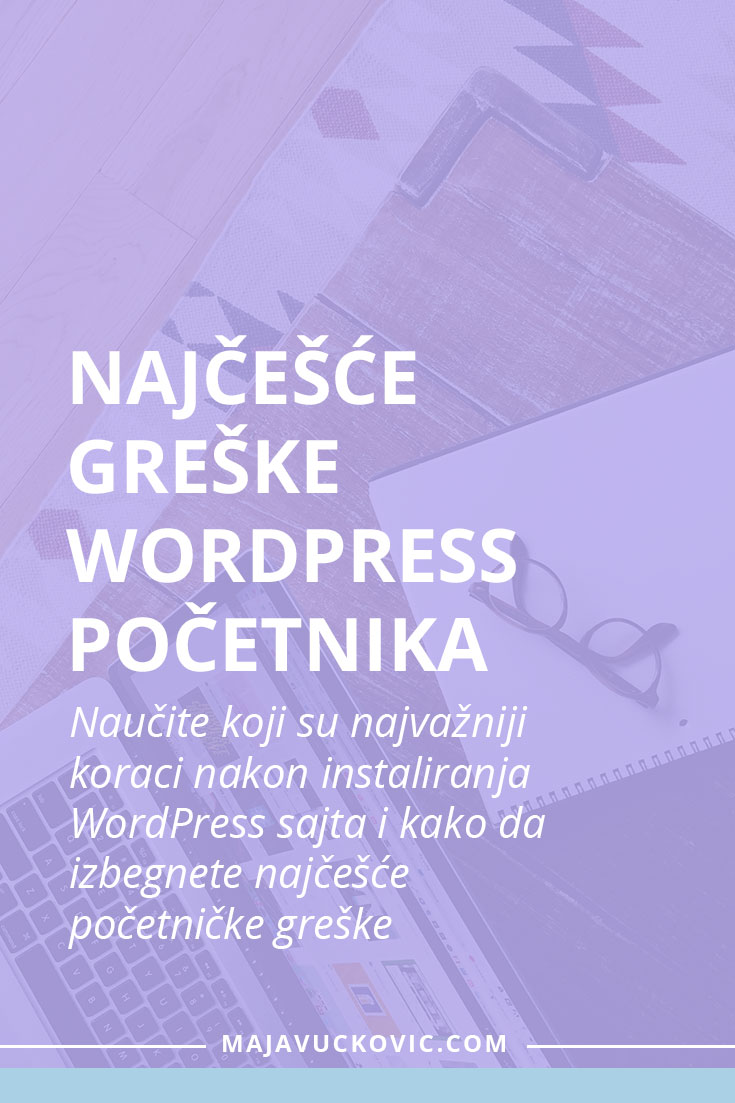 Greške WordPress početnika