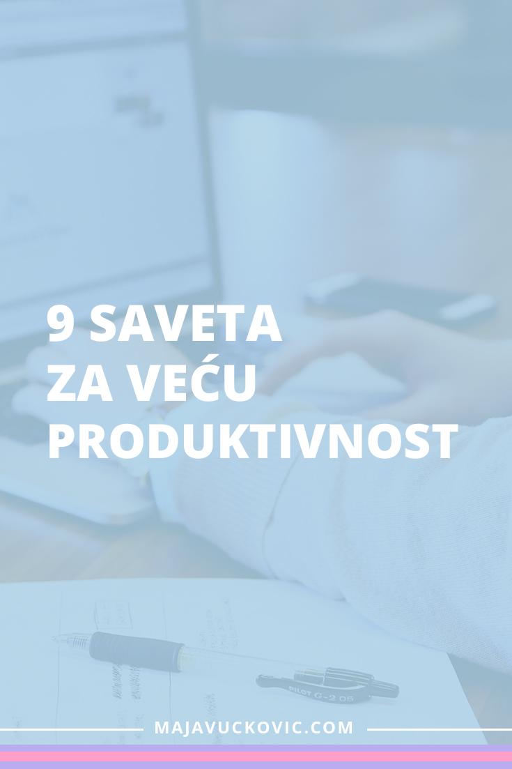 Saveti za produktivnost