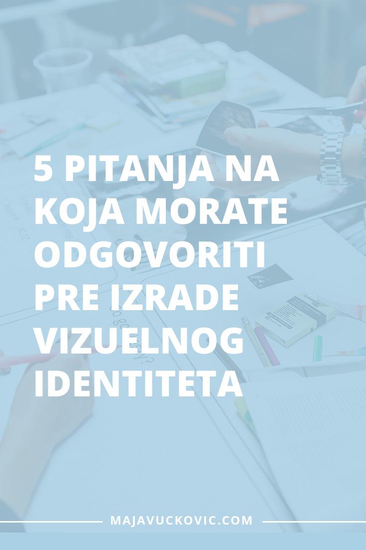 Vizuelni identitet: 5 pitanja na koja morate odgovoriti pre izrade