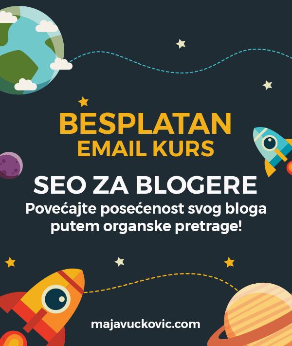 Besplatan email kurs: SEO za blogere