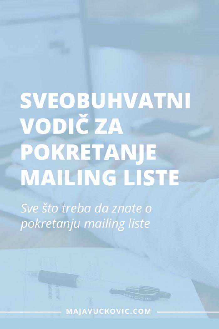 pokretanje mailing liste