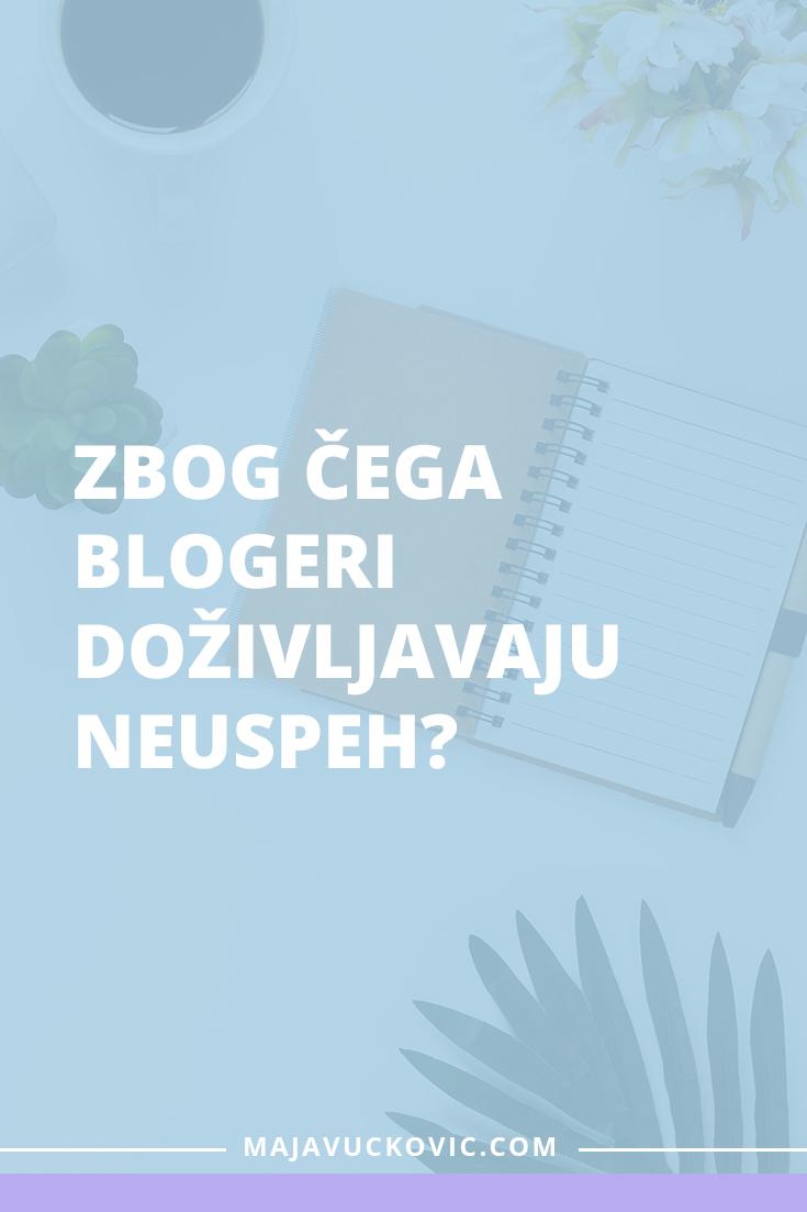 blogeri doživljavaju neuspeh